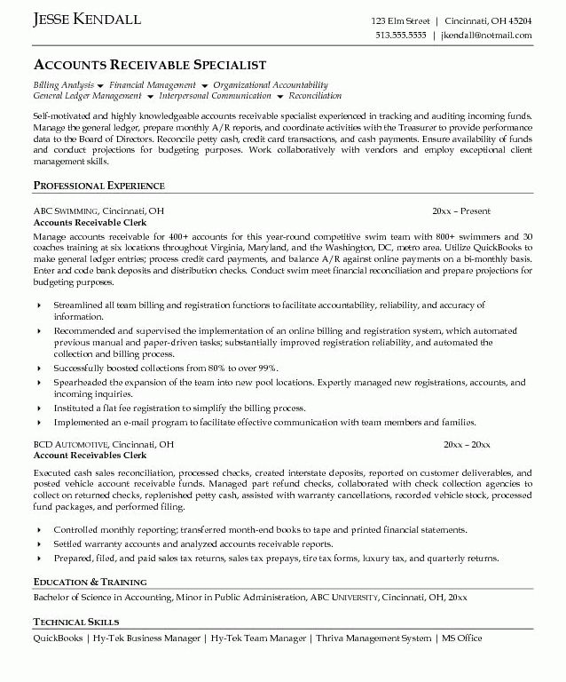 Account Payable Resume. download account payable clerk sample ...