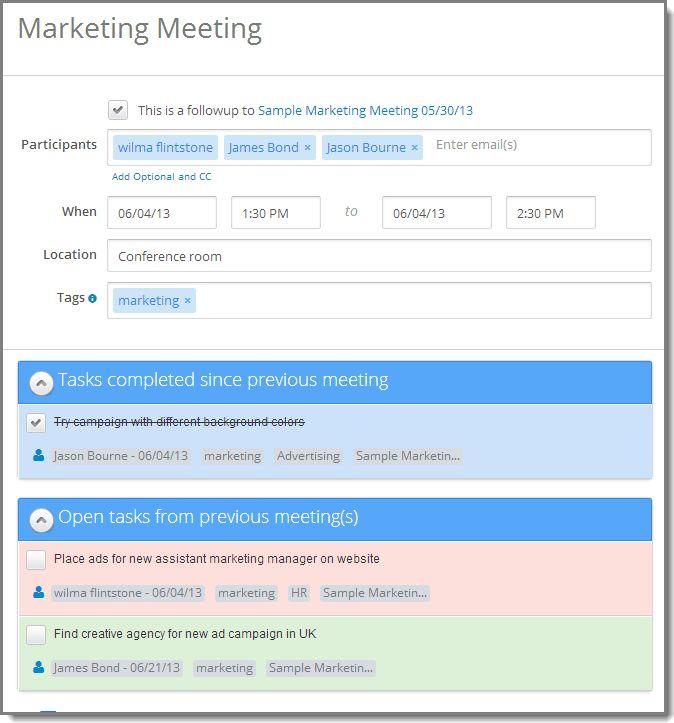 follow-up meeting - Meeting Agenda & Meeting Minutes Software ...