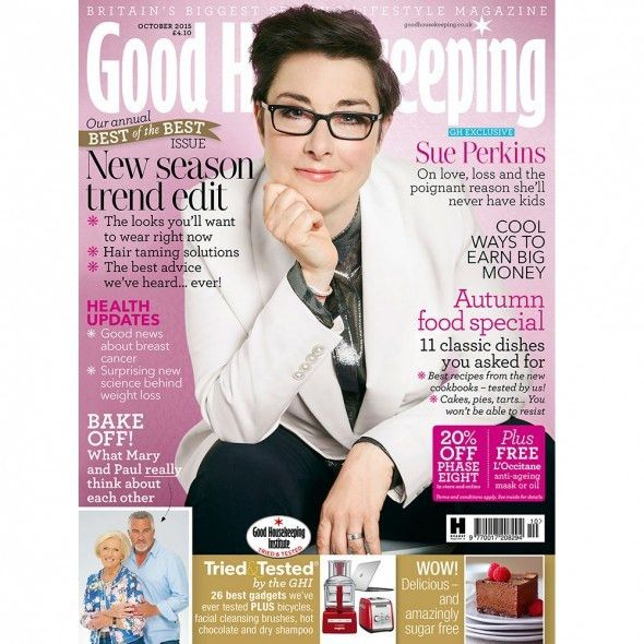 Sue Perkins is Good Housekeeping's October cover star - Good ...