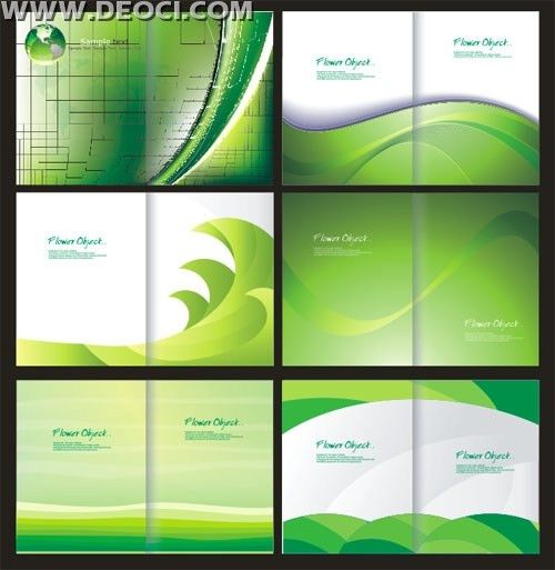 6 green album cover background design template CorelDRAW CDR file ...