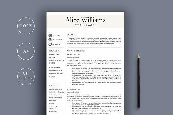 Designer Resume Template. Interior Design Resume Template ...