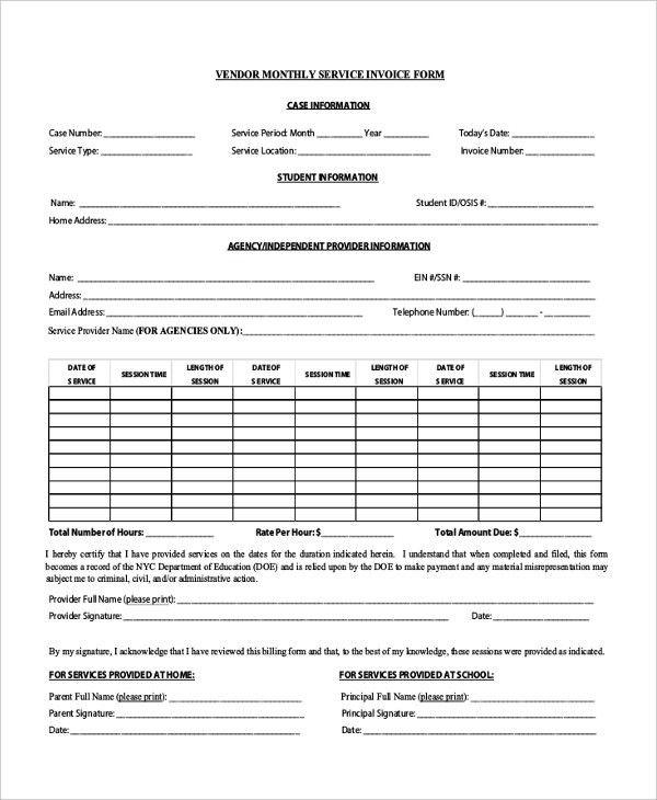 Invoice Forms [Nfgaccountability.com ]