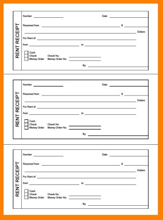 6+ printable rent receipt | Letter Template Word
