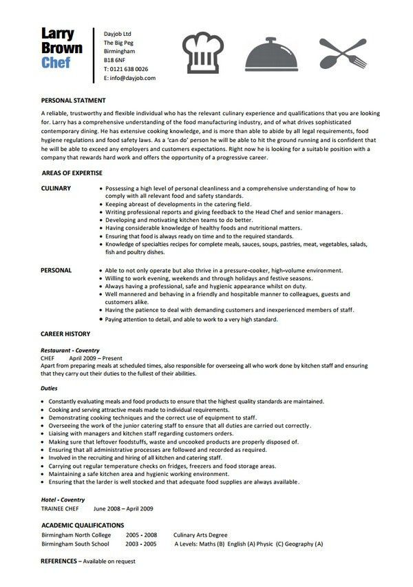 Chef Resume Template | health-symptoms-and-cure.com