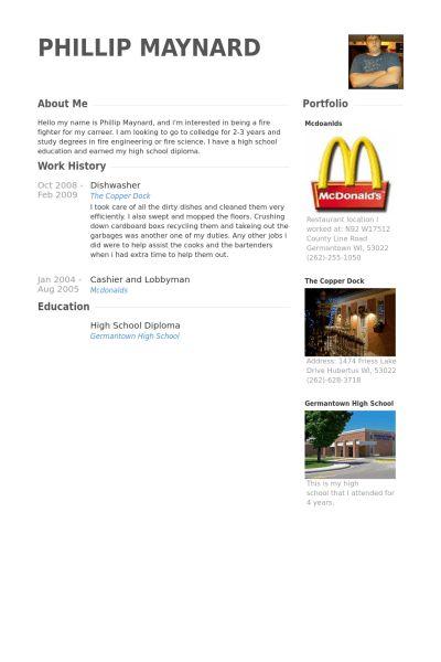 Dishwasher Resume samples - VisualCV resume samples database