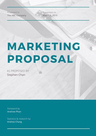 Marketing Proposal Templates - Canva