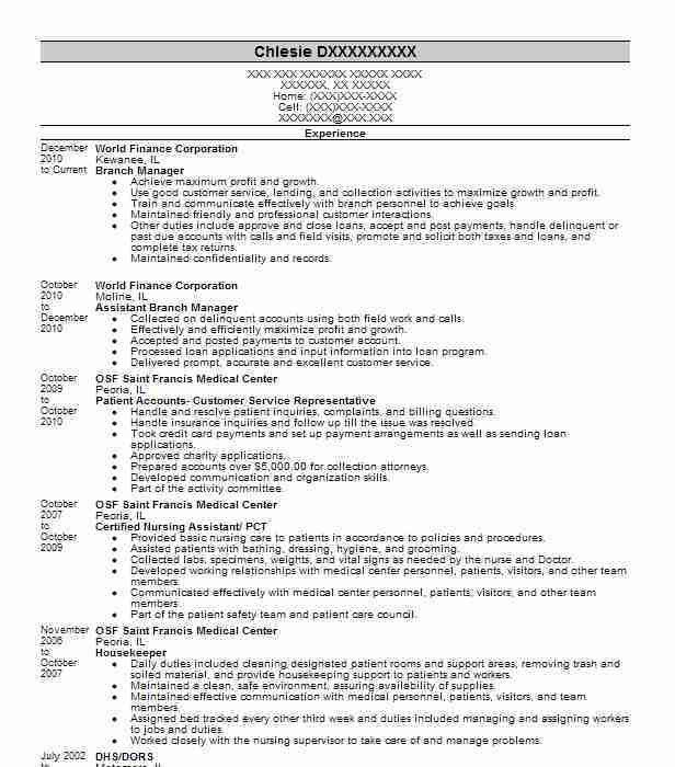 Best Branch Manager Resume Example | LiveCareer