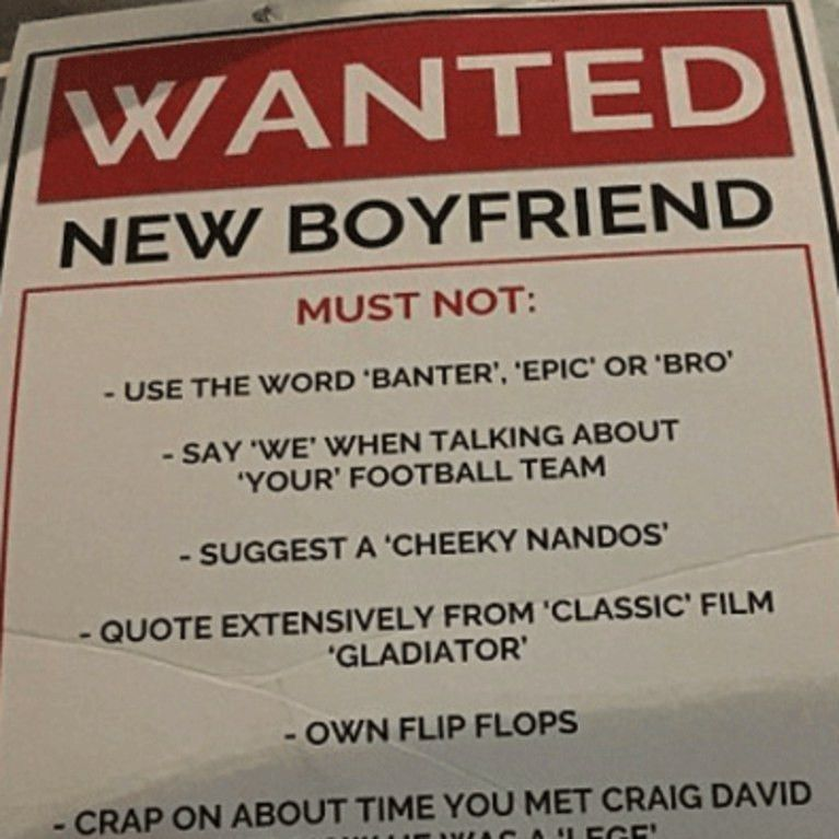 Woman Takes Her Boyfriend Search To The Next Level With Wanted Poster
