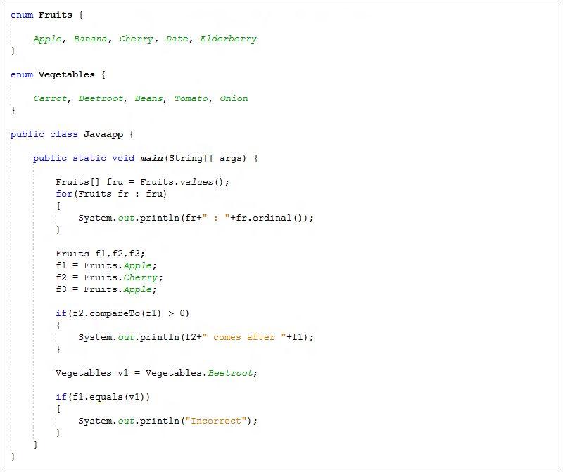 Java ordinal() - Java Tutorial