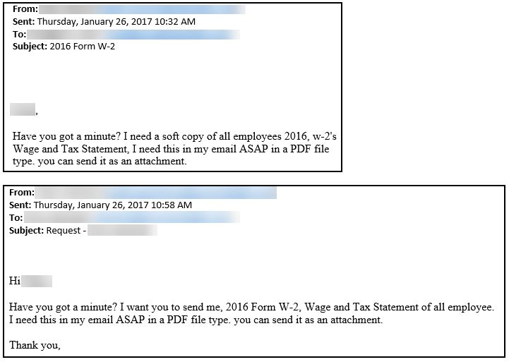 It's Baaack, the Form W-2 Email Scam