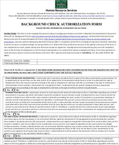 Background Check Consent Form Sample - 8+ Examples in Word, PDF