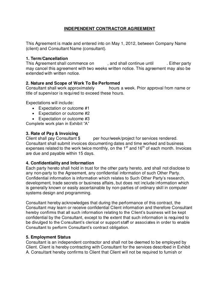 Flevy.com - Sample Consulting Contract