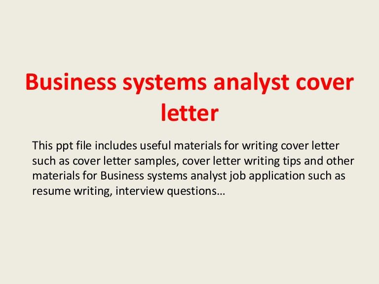 cover letter system analyst