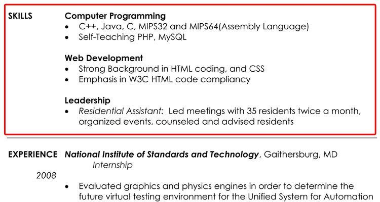 skill for resume examples resume skills examples template design ...
