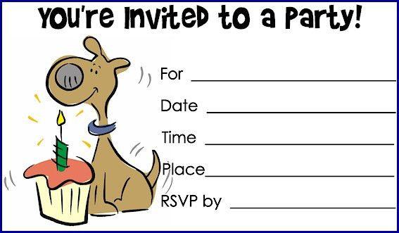 Dog Birthday Invitations Ideas – Bagvania FREE Printable ...