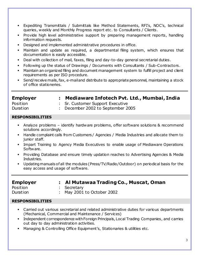 Expeditor Resume Objective - Corpedo.com