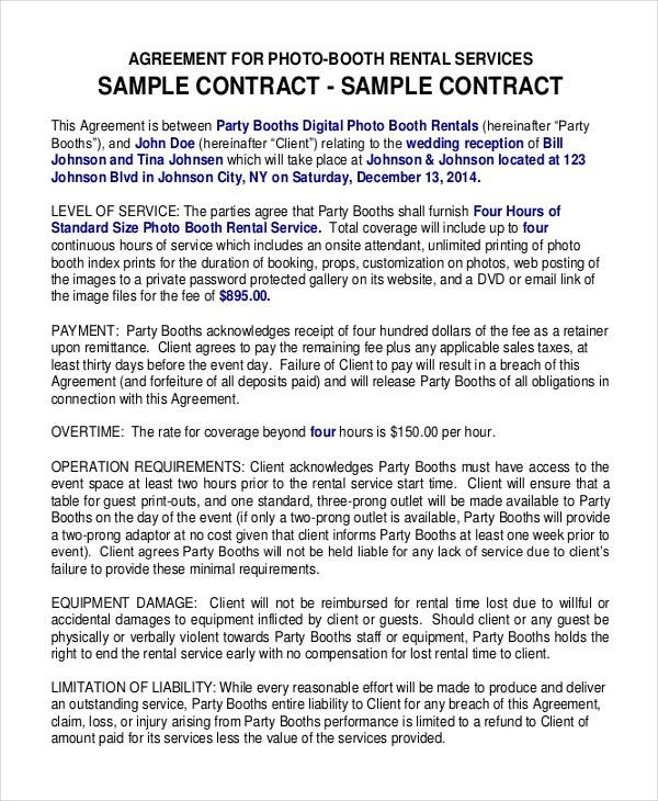 12+ Booth Rental Agreement Templates – Free Sample, Example Format ...