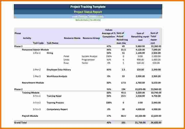 8+ Project Status Report Template Excel | Expense Report