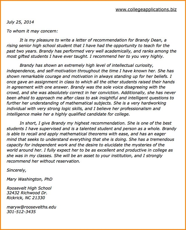 10+ how to write a recommendation letter for scholarship ...