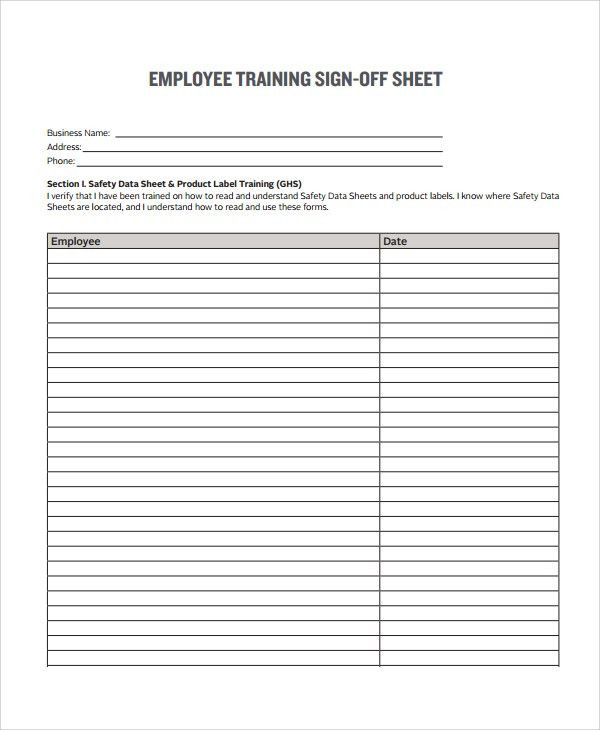 Sample Sign Off Form - 7+ Documents in PDF