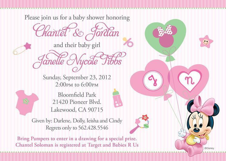 132 best baby shower invitations images on Pinterest | Free baby ...