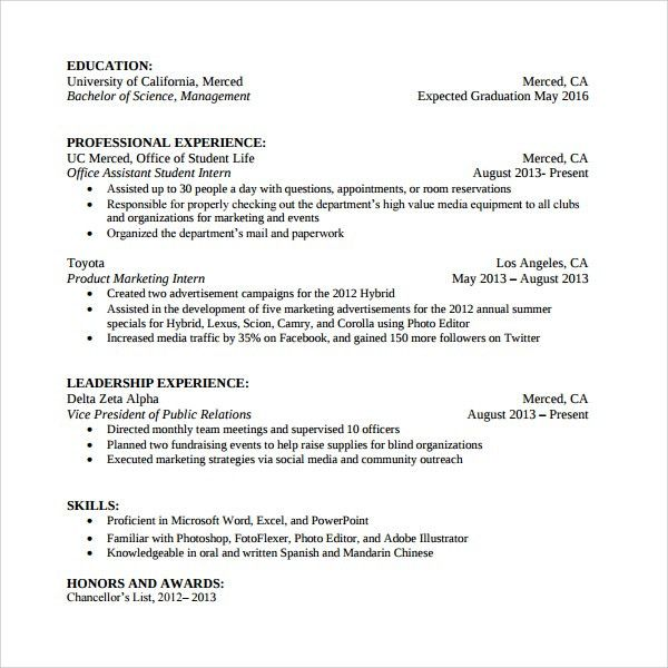 Student Office Assistant Cover Letter