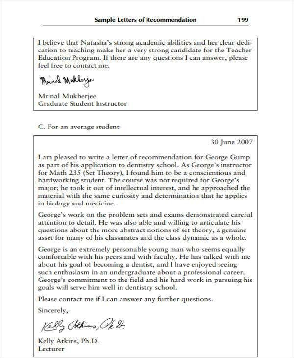 9+ High School Recommendation Letter Template - 10+ Free Word, PDF ...