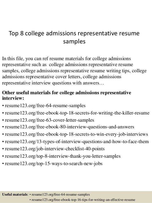 top-8-college-admissions-representative -resume-samples-1-638.jpg?cb=1436106064