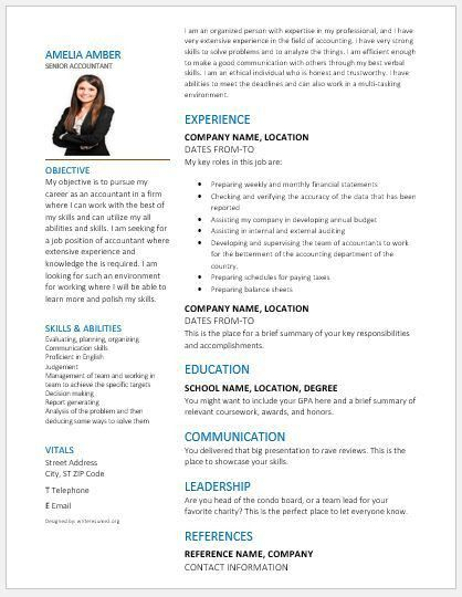 Accountant Resume Contents, Layouts and Templates | Resume Templates