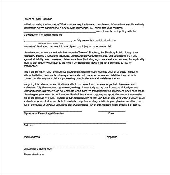 Hold Harmless Agreement Template – 13+ Free Word, PDF Document ...