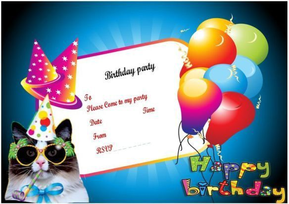 Birthday Invitation Template - Redwolfblog.Com
