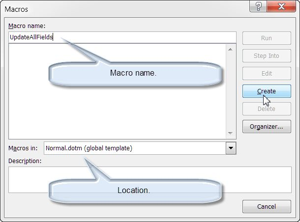 Install/Employ VBA Procedures (Macros)