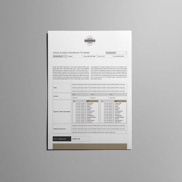 Job Analysis Template. 7+ Task Analysis Form   Reporter Resume Job ...