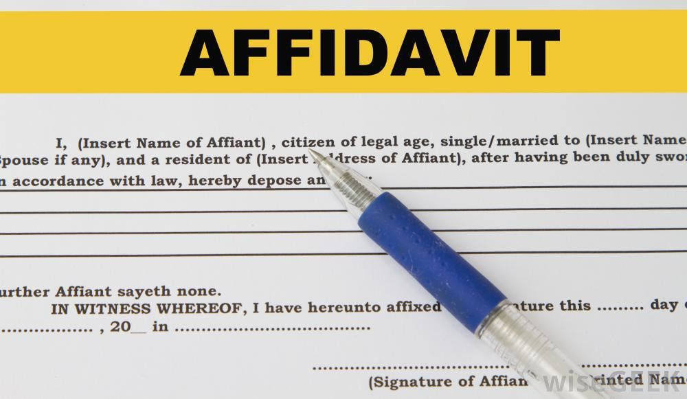 What is a Divorce Affidavit? (with pictures)