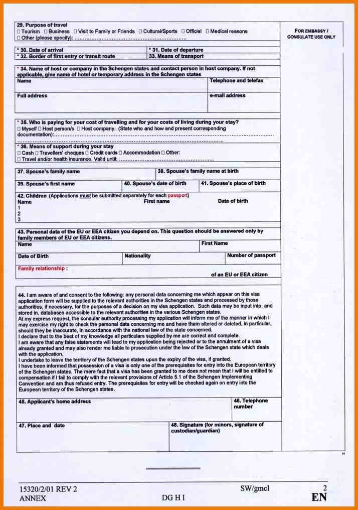 5+ visa form schengen | postal-carrier