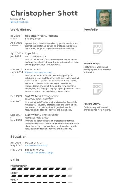 Publicist Resume samples - VisualCV resume samples database