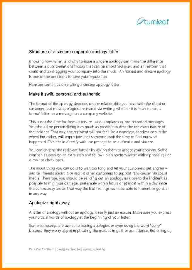 Letter Of Apology. How To Write A Sincere Corporate Apology ...
