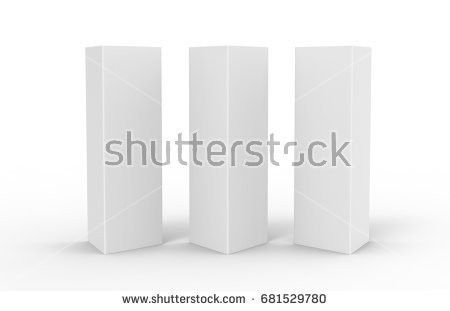 White Blank Empty Paper Trifold Table Stock Illustration 681529792 ...