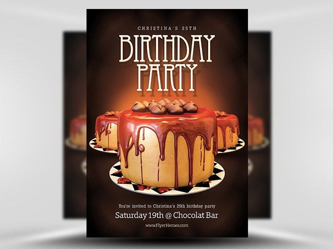 Birthday Flyer Template - FlyerHeroes