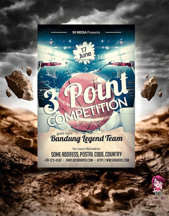 3 Point Competition Flyer Template by SRahayu | GraphicRiver