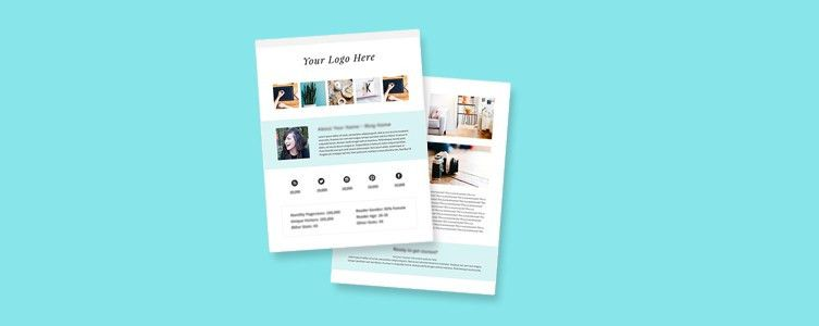 How and Why to Create a Media Kit for Your Blog (Free Template ...