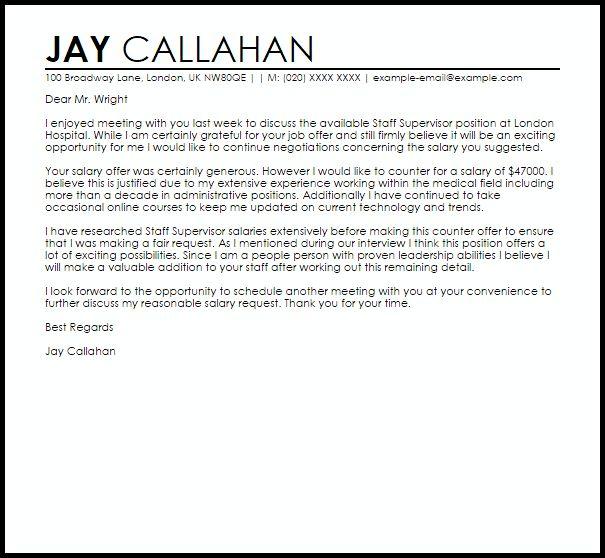 Counter Offer Job Letter | Job Letters | LiveCareer