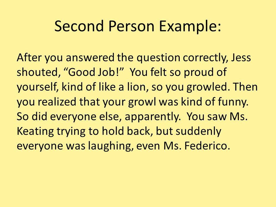 Point of View (POV) Stories are told by someone. - ppt download