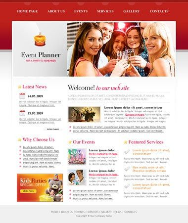Free Event Planner Website Template | Free CSS Templates ...