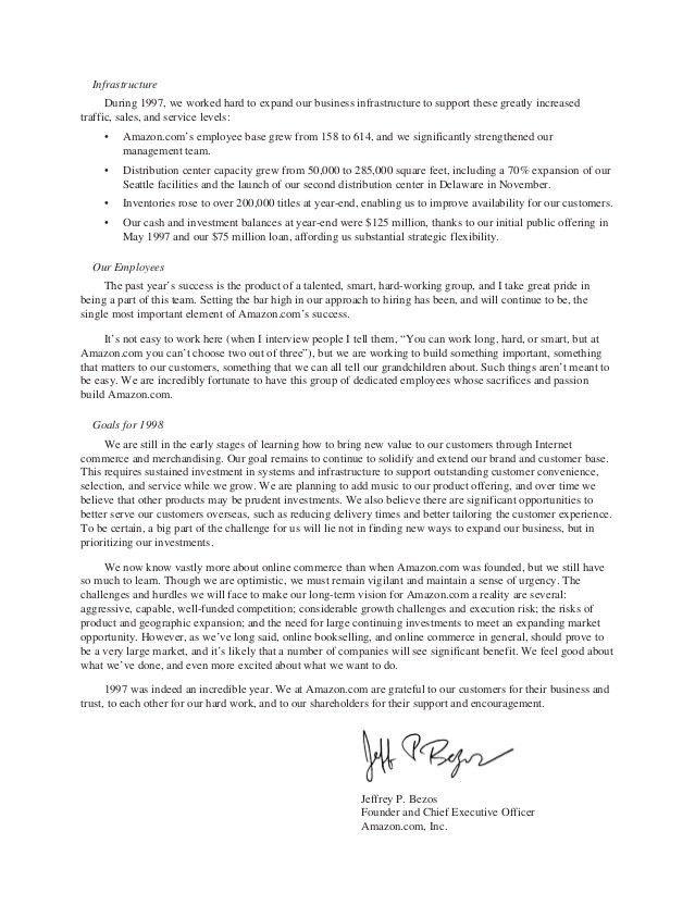 Jeff Bezos 2013 Amazon Letter to Shareholders
