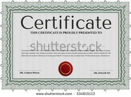 Certificate Achievement Borders Template Design Stock Vector ...