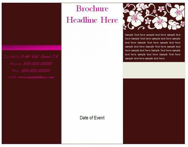 Blank Brochure Template Word - Csoforum.info