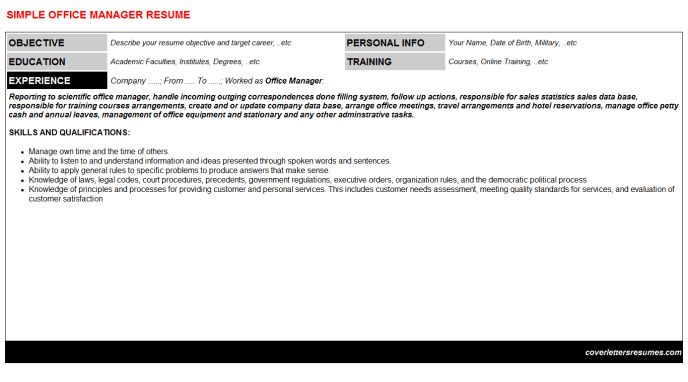 Curriculum Vitae: Resumes Templates & Cover Letters Writing Samples
