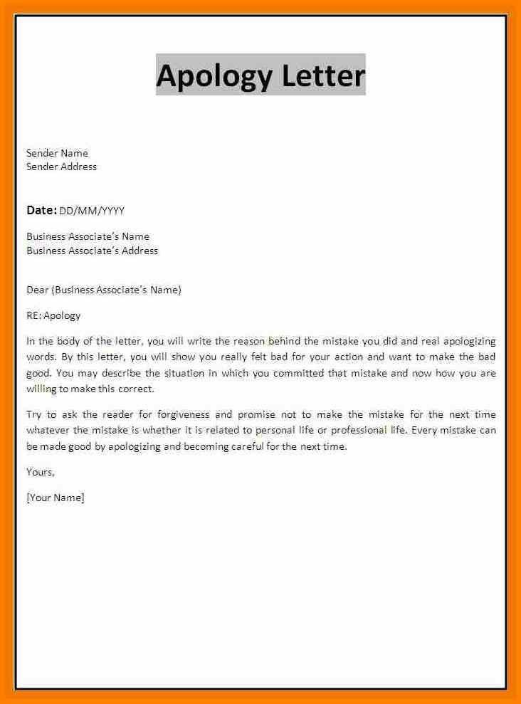 Apology Letter Formal  Complete Guide Example Of Pics Template To