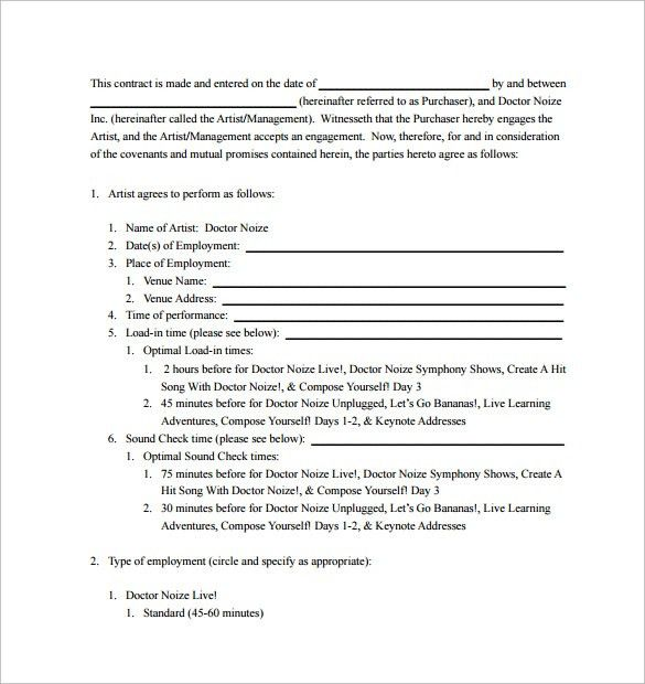 Performance Contract Template - 11+ Download Free Documents in PDF ...